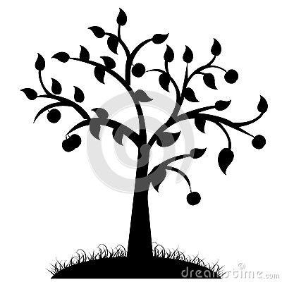 Simple Black And White Tree Design Clipart Panda - Free Clipart Images