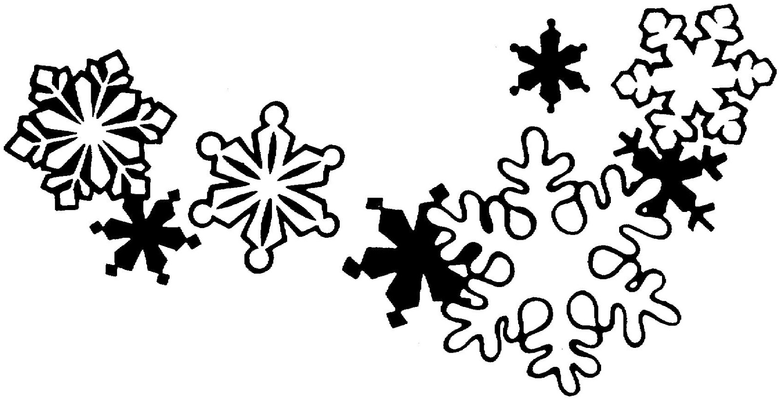 Christmas Ornament Clip Art Black And White Snowflake Clipart Black And White Clipart Panda Free