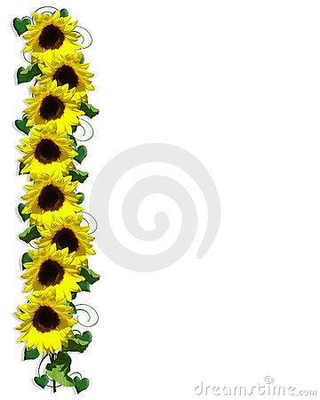 Fall Sunflower Wallpaper Sunflower Border Clipart Clipart Panda Free Clipart Images