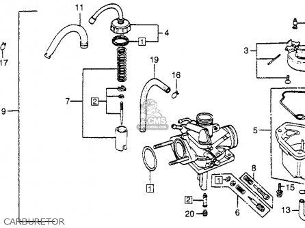 Diagram Of Honda Motorcycle Parts 1989 Nx650 Ac Carburetor Diagram