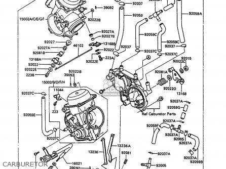 CARBURETOR-ASSY for VN750A3 VN750 TWIN 1987 EUROPE FR UK AR IT NR ST