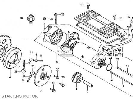 cb750k motor diagram