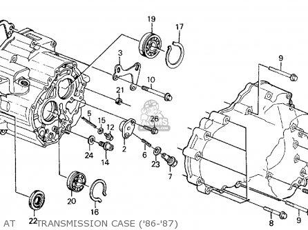 Honda CIVIC 1987 (H) 4DR GL (KA,KL) parts lists and schematics