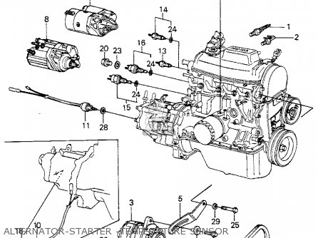 Wire Diagram Wiring Schematic Honda Civic Htbk Wagon 1983 3dr S 1500 Ka Kh Kl Parts