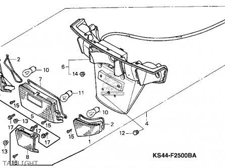 Honda CN250 HELIX 1992 (N) USA parts lists and schematics