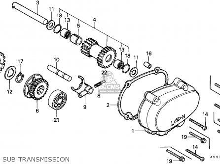 Honda CT110 HUNTER CUB 1982 (C) CANADA / KPH parts lists and schematics