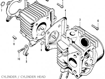1970 Honda Trail 70 Parts Control Cables  Wiring Diagram