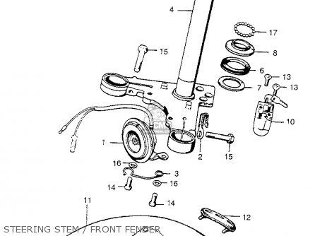 honda ct200 trail 90 1964 usa carburetor schematic partsfiche