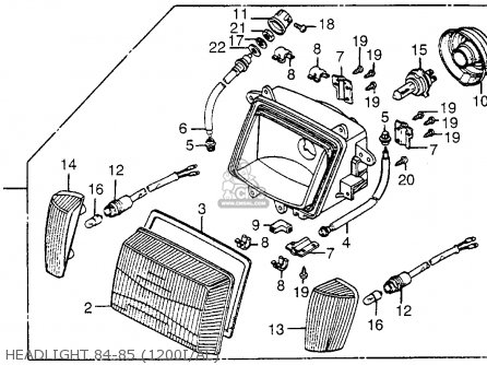 1982 Honda Goldwing Gl1200 Aspencade Wiring Diagram Usa Download