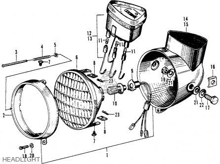 1967 honda s90 wiring headlight