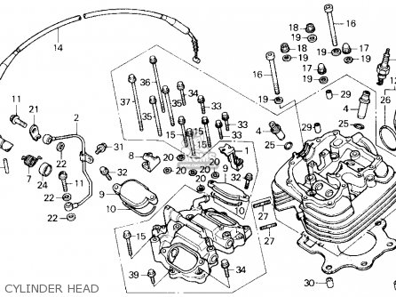 2001 honda recon engine diagram