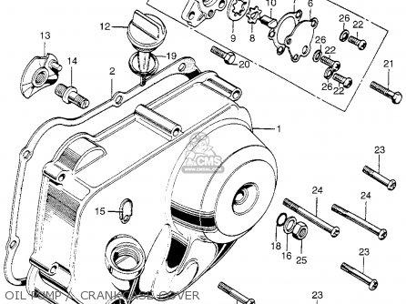 Honda Z50A MINI TRAIL K2 1970 1971 USA parts lists and schematics