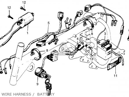 honda z50a electrical components system wiring diagram binatanicom