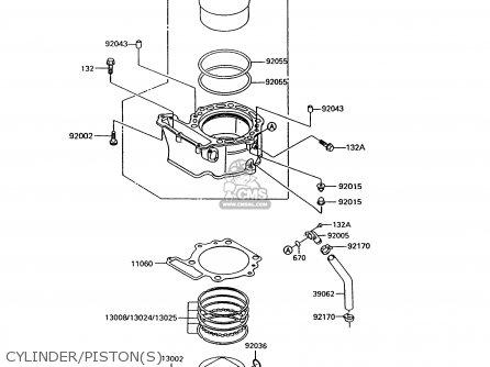 Kawasaki KL600B8 KLR600 1993 GREECE parts lists and schematics