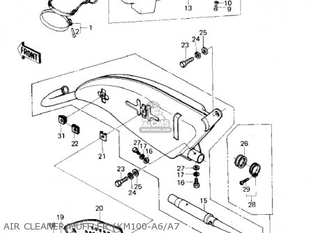 1976 Kawasaki Km 100 Wiring Diagram - Explained Wiring Diagram