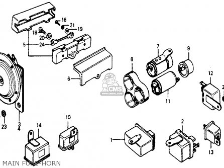 HORN ASSY (LOW) for ACCORD 1987 (H) 4DR DX (KA) - order at CMSNL
