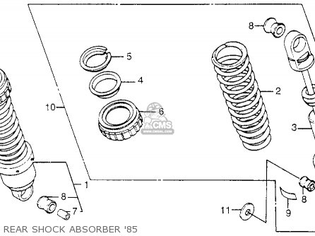 STOPER,SPGSEAT for CB650SC NIGHTHAWK 1985 (F) USA - order at CMSNL
