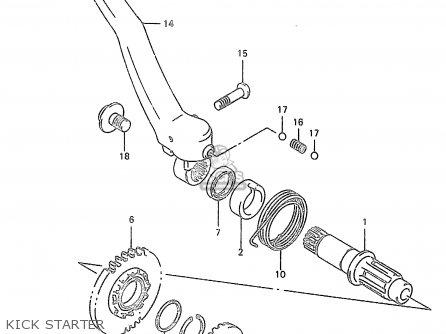 Suzuki RM250 1998 (W) (E02 E04 E24 P37) parts lists and schematics