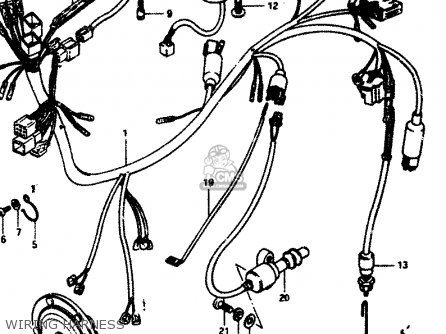 HARNESS,WIRING for GS850G 1982 (Z) GENERAL EXPORT (E01) - order at CMSNL