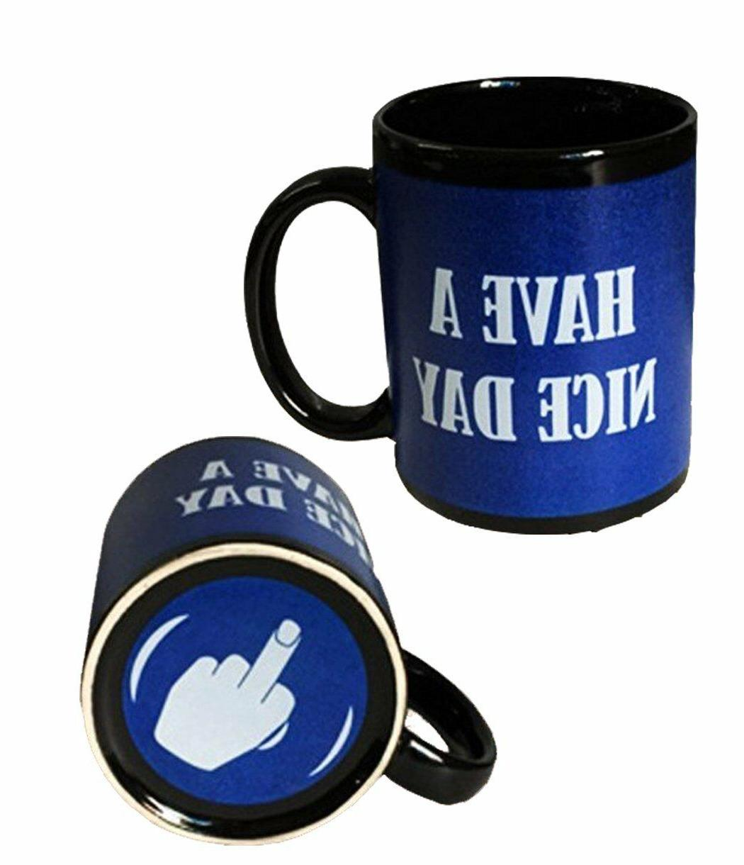 Where To Buy Nice Coffee Mugs Have A Nice Day Coffee Mug Middle Finger