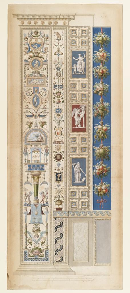 Print, Plate I from Loggie di Rafaele nel Vaticano, 1772\u201377 - vertical designs