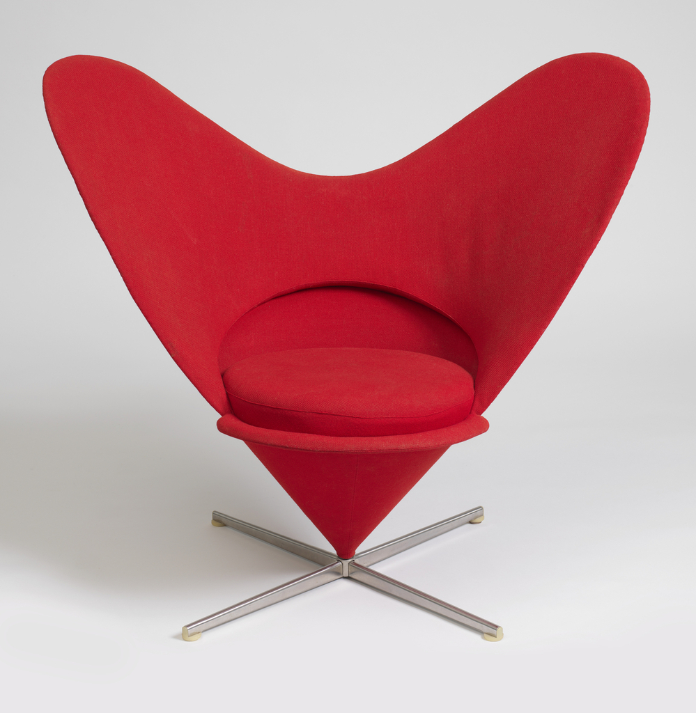 Vitra Chair Poster Heart Cone Chair 1959 Objects Collection Of Cooper