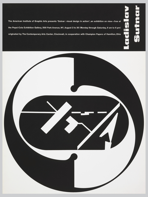 Poster, Sutnar Visual Design in Action/ The American Institute of