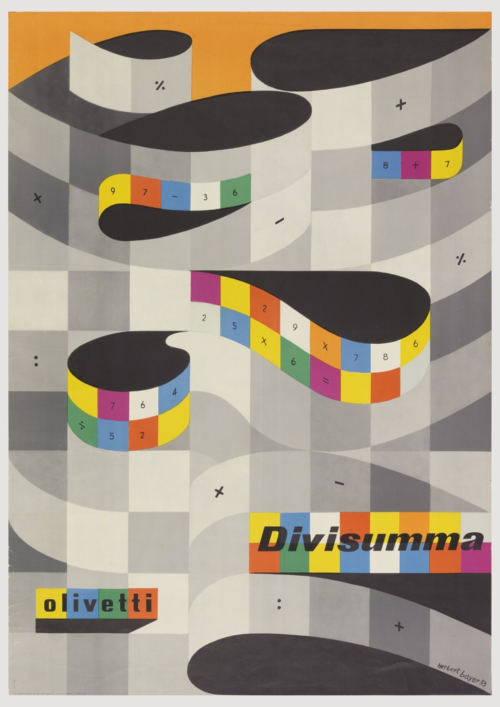 Poster, Divisumma, 1953 Objects Collection of Cooper Hewitt - poster on line