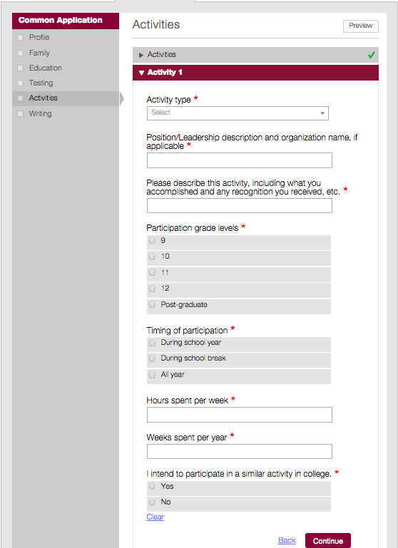 how long is the common app essay