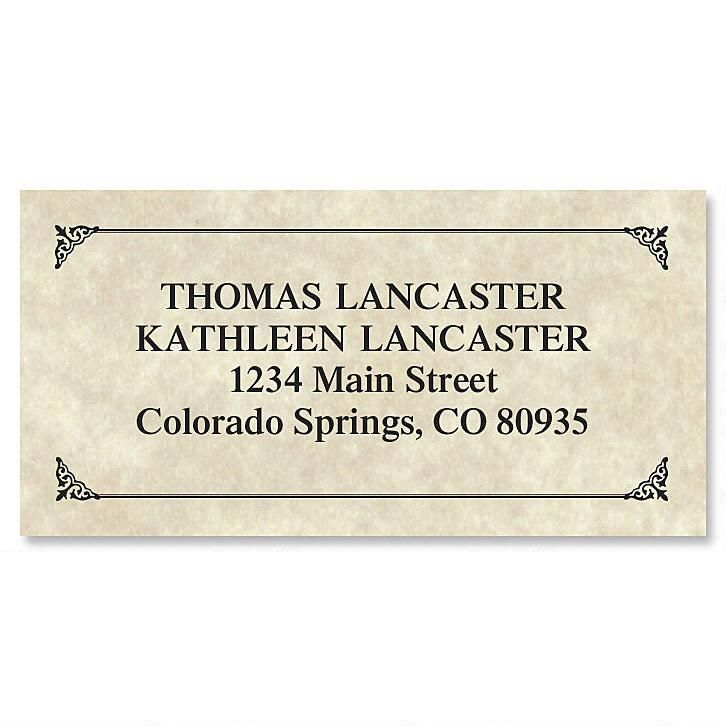 Antique Border Return Address Labels Colorful Images - Address Label