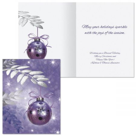 Symphony in Purple Note Card Size Christmas Cards Colorful Images - purple note cards