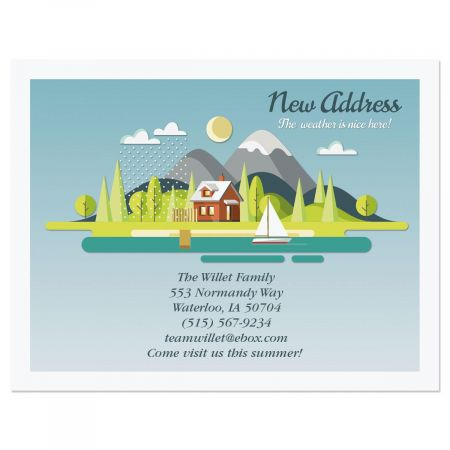 Fair Weather New Address Postcards Colorful Images
