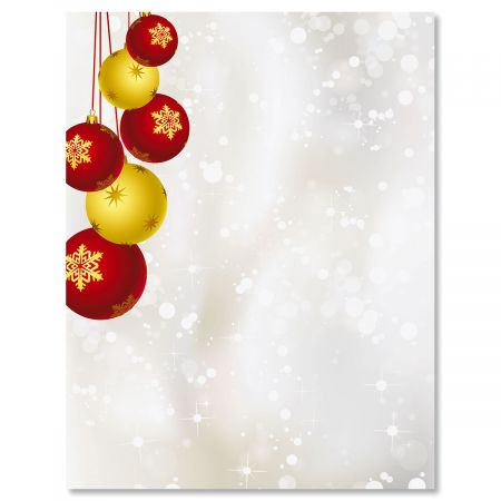 Yuletide Ornaments Christmas Letter Papers Colorful Images