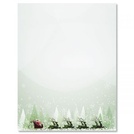 Santa\u0027s on His Way Christmas Letter Papers Colorful Images
