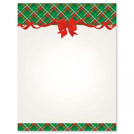 Plaid  Ribbon Christmas Letter Papers Colorful Images