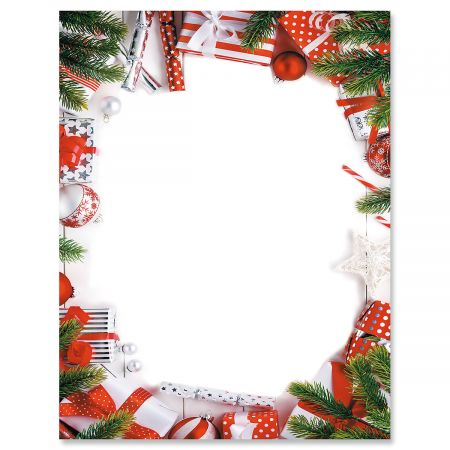 Candy Cane Christmas Letter Papers Colorful Images