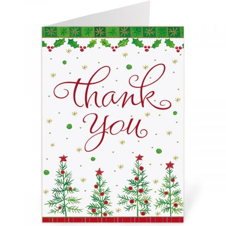 Holiday Custom Thank You Note Cards - Buy 1, Get 1 Free Colorful
