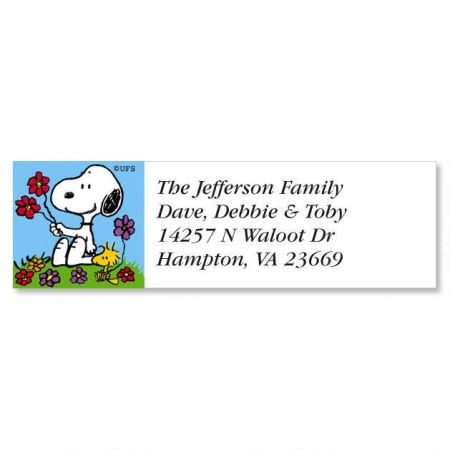 PEANUTS Year Round Classic Return Address Labels Colorful Images - Address Label