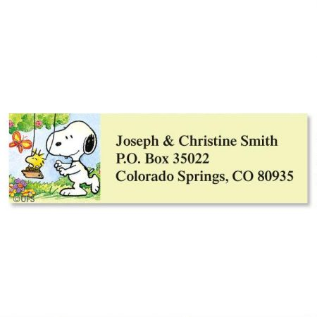 Address Label Snoopy YearRound Classic Return Address Labels - Return Address Label Template