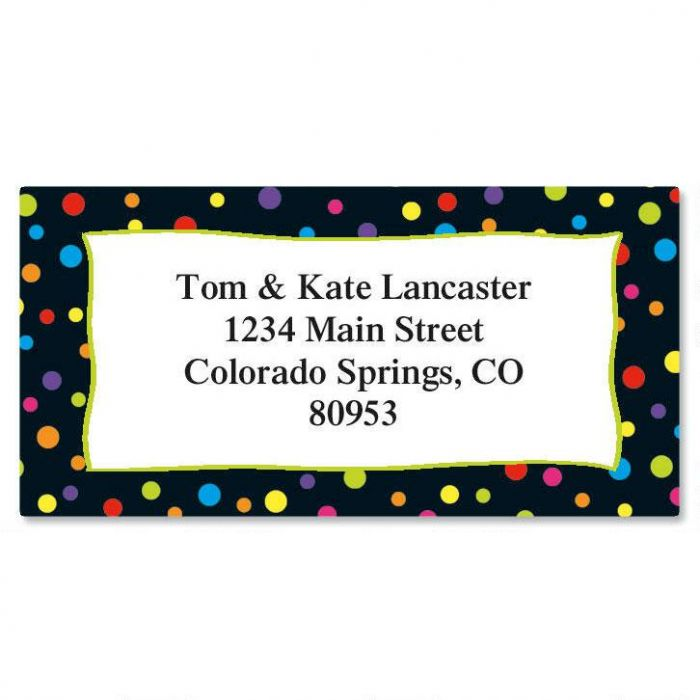 Something Fun Party Border Return Address Labels Colorful Images