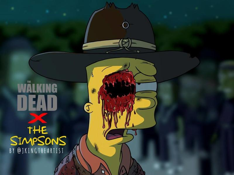 Gravity Falls All Characters Wallpaper Zombies Come To Springfield In These Simpsons X Walking