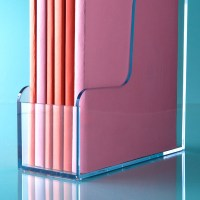 Clear Magazine Holder | The Container Store