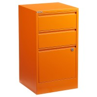 Bisley Orange 2- & 3-Drawer Locking Filing Cabinets | The ...