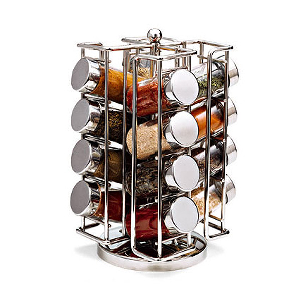 Chrome Spinning Spice Rack The Container Store