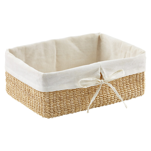 Natural Lined Makati Storage Baskets The Container Store