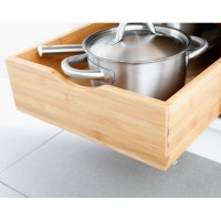 Bamboo Roll-Out Cabinet Drawers | The Container Store