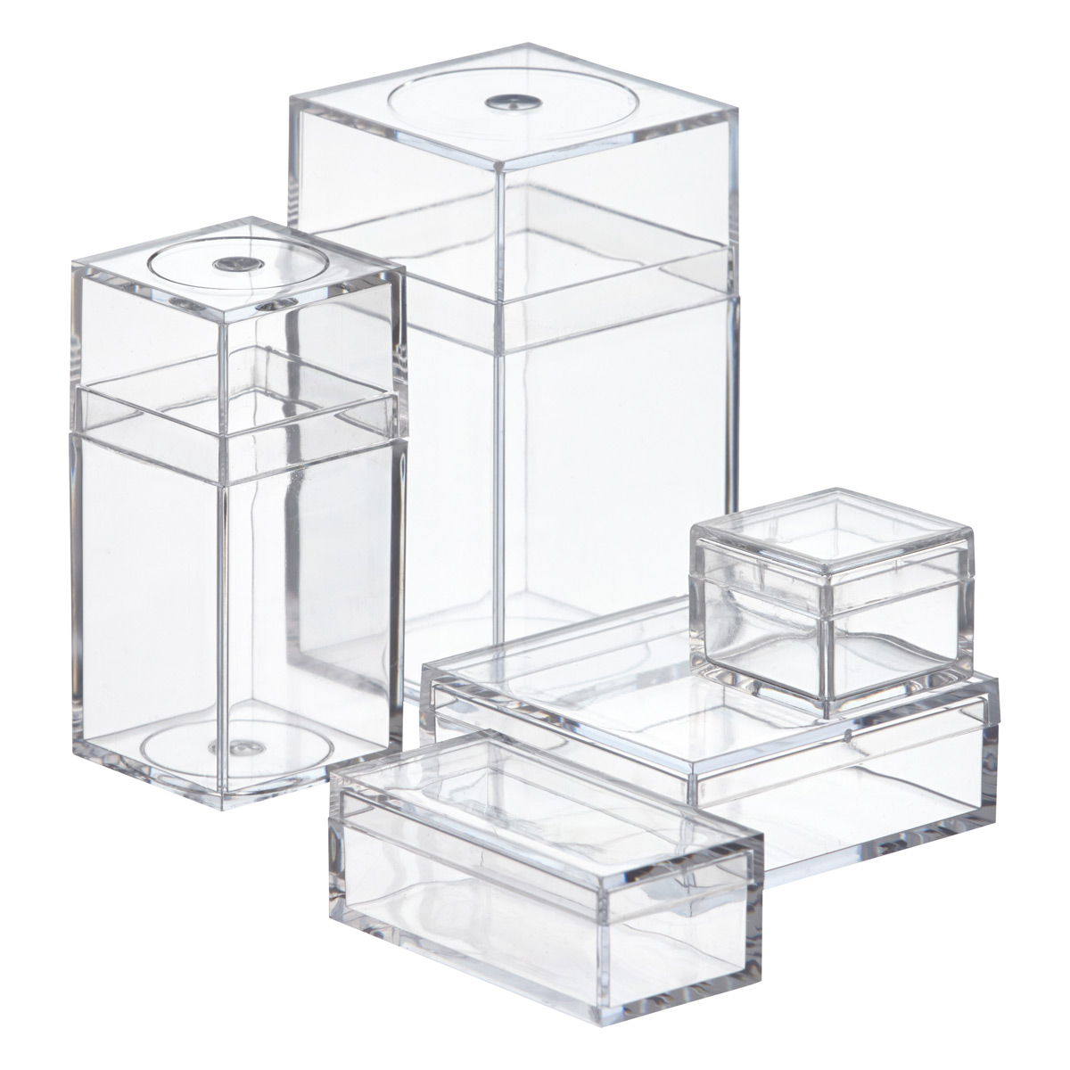 Clear Display Boxes Small Plastic Boxes Small Clear Amac Boxes The