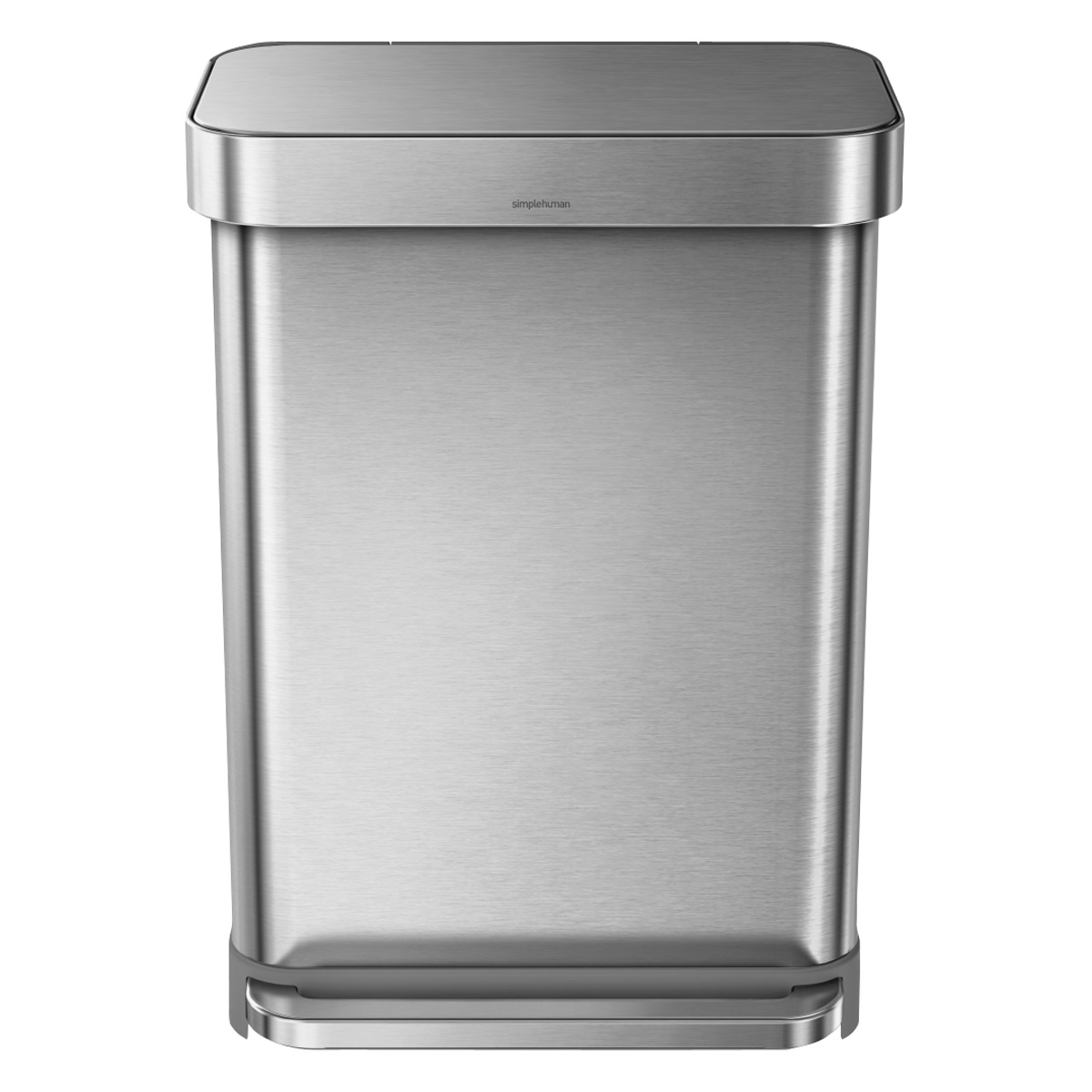 Rvs Vuilnisbak Simplehuman Stainless Steel 14 4 Gal Rectangular Trash