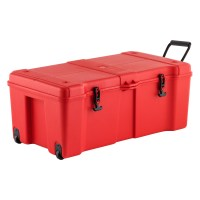 Red Ultra Storage Trunk with Wheels | The Container Store