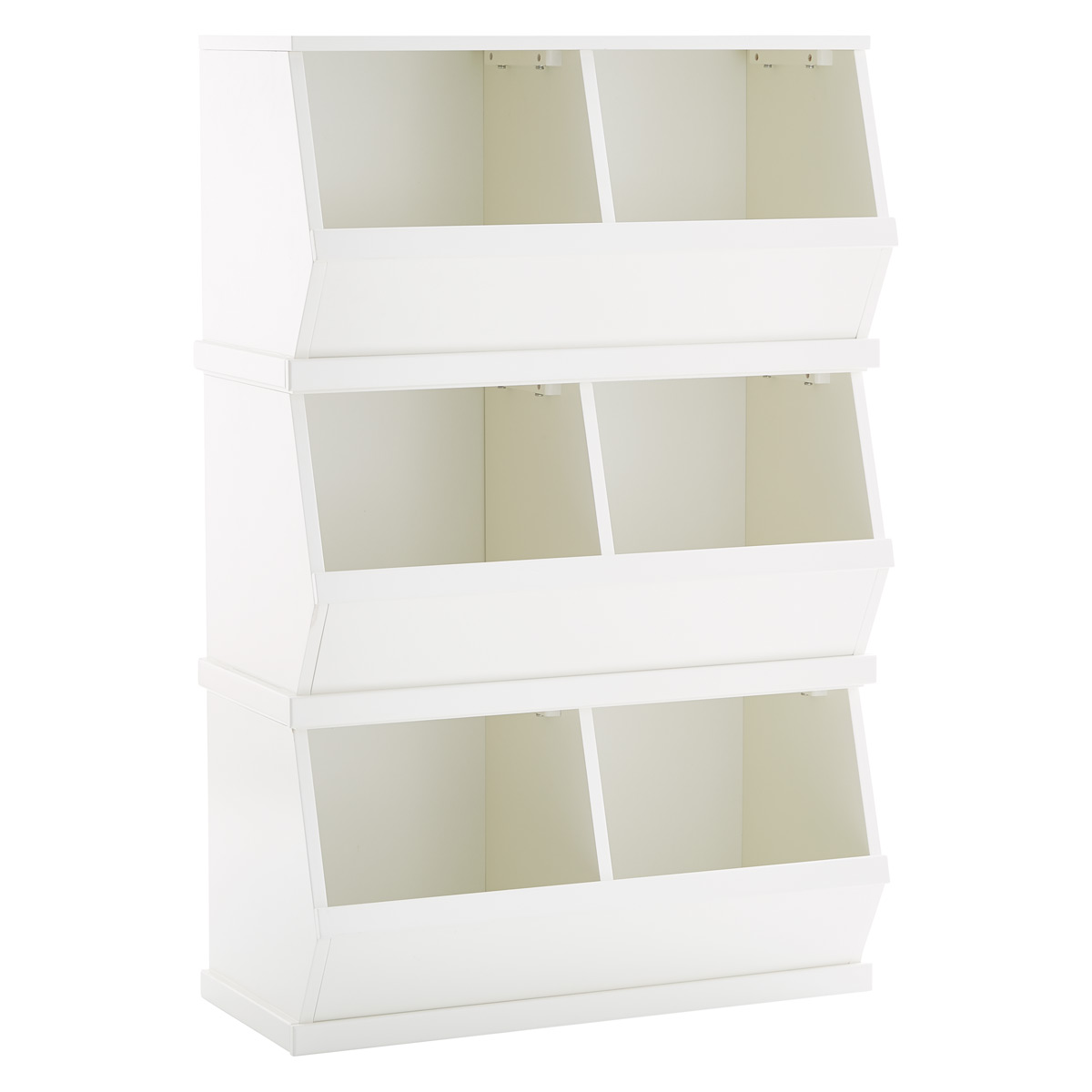 Stackable Storage Bins White Nantucket Stackable Storage Bin The Container Store